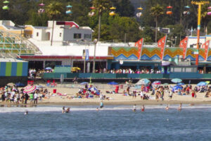 Santa Cruz Main Beach / Cowell Beach in front of the famous Boardwalk